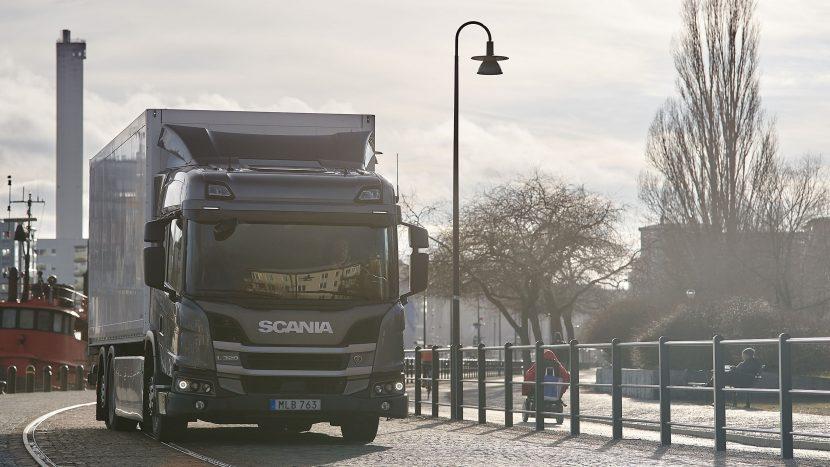 Camion electric cu baterii Scania în Danemarca