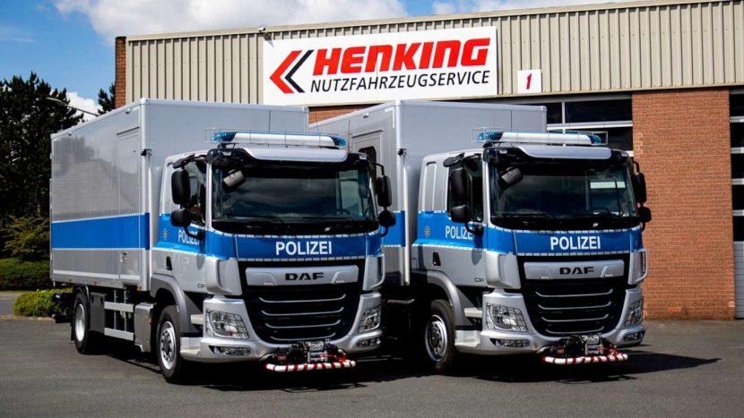 Camioane DAF 4x4 pentru poliția germană