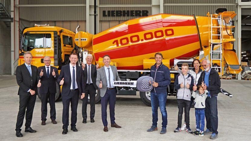Liebherr a livrat betoniera cu numărul 100.000
