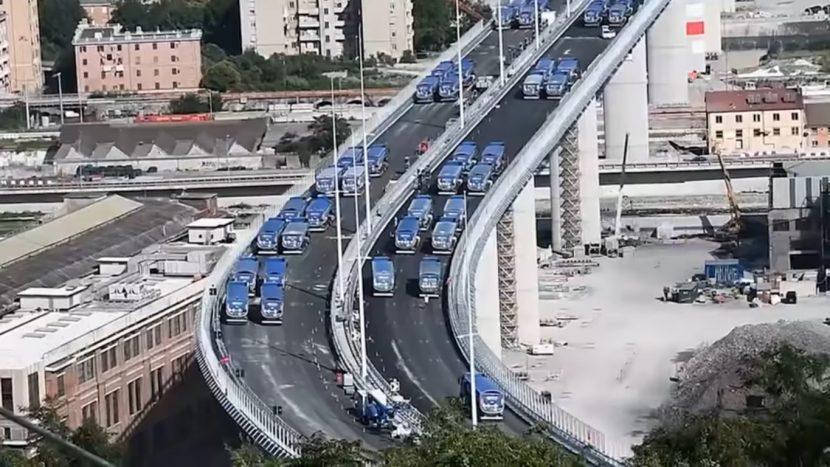 Noul viaduct din Genova: au început testele statice. Inaugurare la începutul lui august