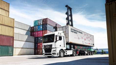 MAN va testa un camion autonom într-un terminal de containere