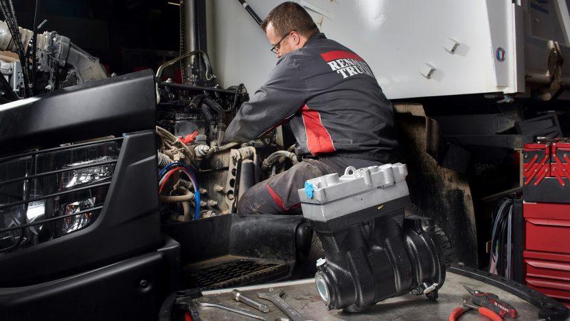 Rețea Renault de reciclare și reutilizare a componentelor de camioane