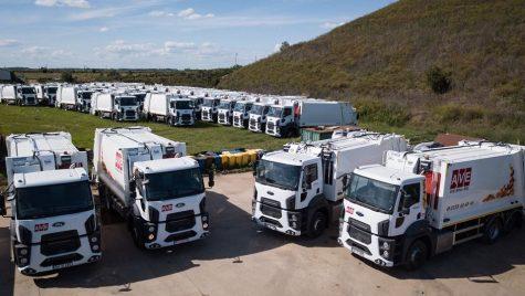 Flotă de 35 de autogunoiere compactoare Ford Trucks pentru AVE Bihor