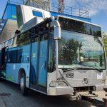 Primul autobuz vechi al STB convertit la CNG