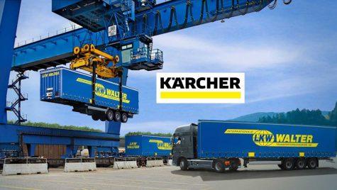 Kärcher importă componentele fabricate în România cu trenul