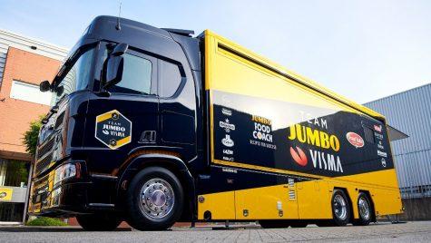 Bucătărie mobilă Scania în Turul Franței