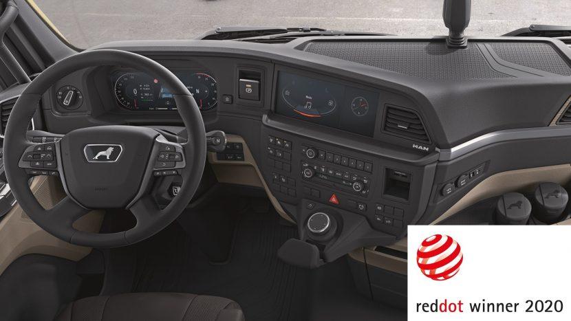 Premiu Red Dot de design pentru interiorul noii cabine MAN