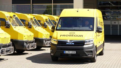MAN eTGE blindat: primul vehicul electric pentru transport de valori