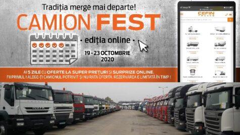 Camion Fest, ediția a 13-a, exclusiv online între 19 și 23 octombrie