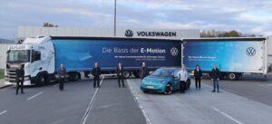 Camion lung alimentat cu LNG pentru logistica Volkswagen