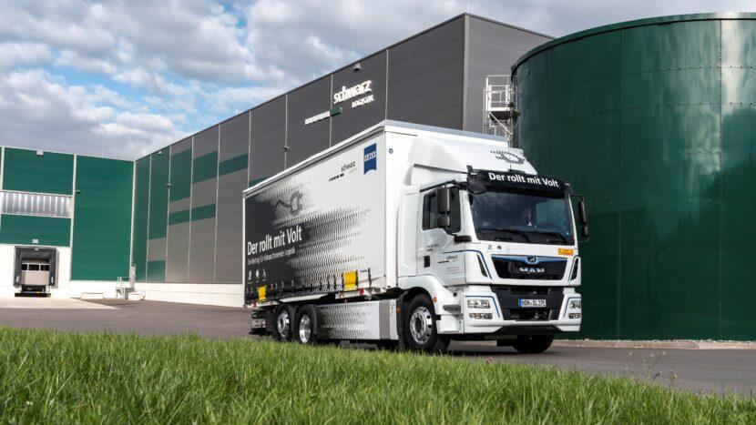 Camion electric MAN eTGM pentru Schwarz Logistik