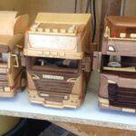 Machete la scară Scania realizate din lemn 1