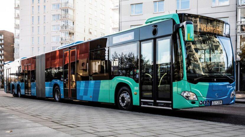 Autobuze gigant Mercedes-Benz în Suedia