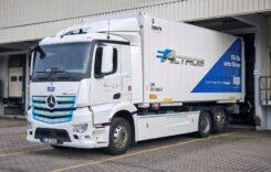 Camionul electric eActros, folosit pentru transport de hârtie