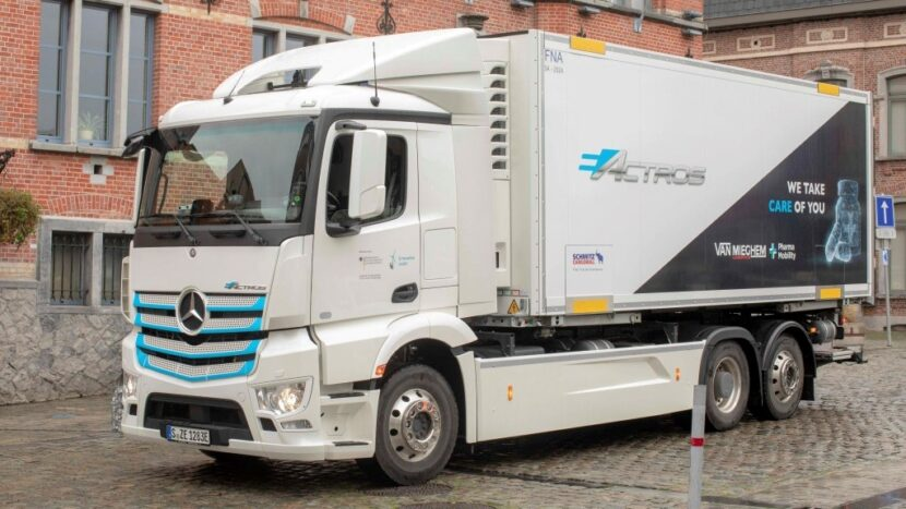 Primul camion electric Mercedes-Benz din Belgia