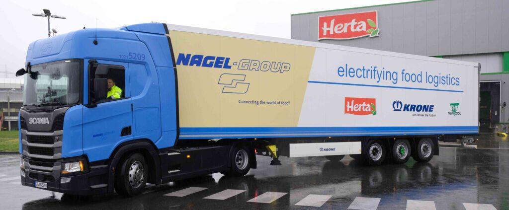 Semiremorcă electrică Krone, testată în operațiuni de Nagel-Group