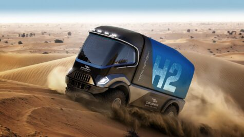 Primul camion alimentat cu hidrogen va participa în Raliul Dakar în 2022