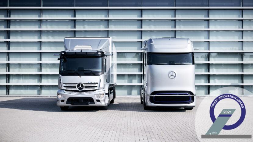 Mercedes-Benz eActros și GenH2 Truck câștigă Truck Innovation Award 2021