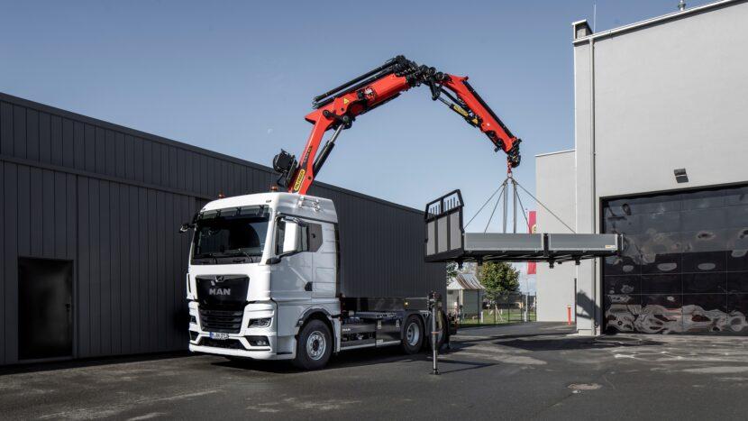 MAN prezintă o axă față de 10 tone pentru camioane cu macara