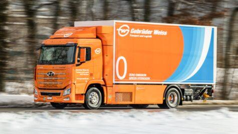 Camion cu hidrogen Hyundai XCIENT pentru Gebrüder Weiss