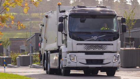 Nordic Recycling pune în operare un camion Volvo FE Electric