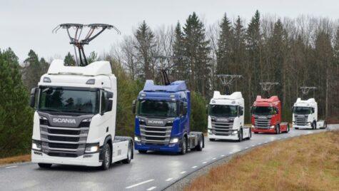 Scania livrează alte 7 camioane cu pantograf pentru testele de lângă Frankfurt