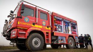 Autospeciale MAN TGM 4x4 de stingere a incendiilor de pădure pentru IGSU