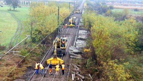 Reparații capitale pe calea ferată Vălișoara-Caransebeș