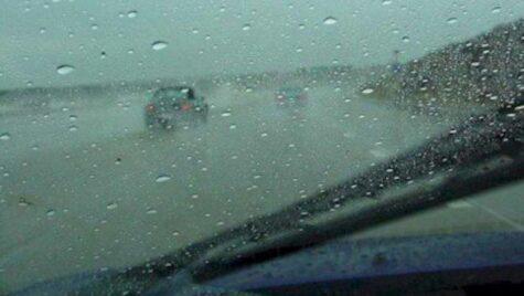 Traficul este îngreunat de precipitații