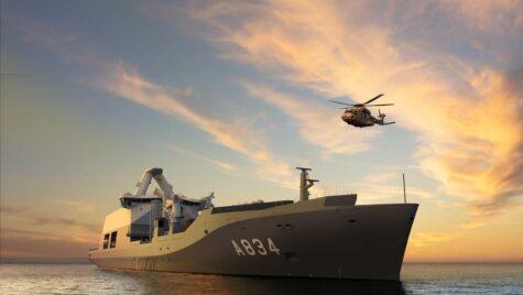 Navă pentru Forţele Navale Regale olandeze de la Galați